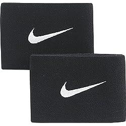 Nike Guard Stay Ii Banda Sujeción Espinillera, Unisex adulto, Negro / Blanco, Talla Única
