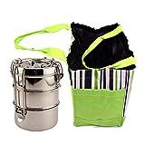 Lunch Bag - Portable Multicolor Striped ...