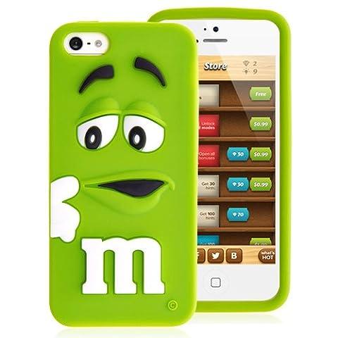 Chocolat Coque arrière en silicone pour iPhone se 5& 5S–Vert
