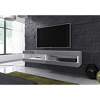Selsey lana meuble tv suspendu table basse tv banc for Meuble tv suspendu 100 cm