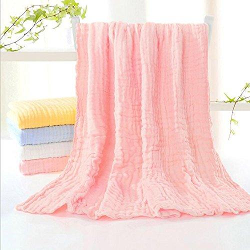 Badetuch 9 schichten von baby waschen baumwolle gaze badetuch neugeborenen weichen saugfähigen handtuch kinder sommer decken (110 * 110 CM) Haus und Hotel Badetuch ( Color : Rosa )