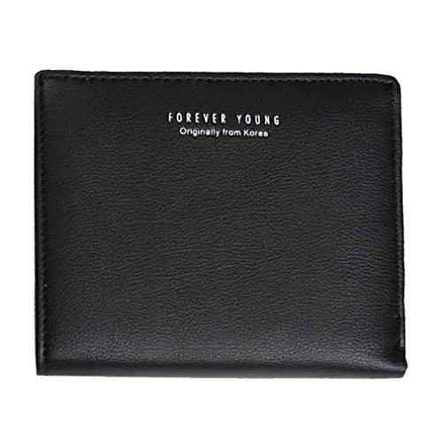 Portafoglio Donna, Tpulling Borsa della borsa del supporto della carta del raccoglitore della borsa della frizione delle donne (Green) Black