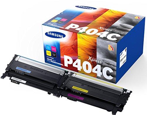 Samsung CLT-P404C/ELS, Cartuccia Toner e Laser, 1000 pagine, Colore Nero, Ciano, Giallo