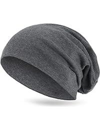 style3 Warme Übergangs Slouch Beanie XXL aus atmungsaktivem, feinem und wärmendem Jersey Unisex Herbst Winter-mütze