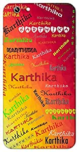 Karthika (Name of the Star) Name & Sign Printed All over customize & Personalized!! Protective back cover for your Smart Phone : Xiaomi Redmi Note 2