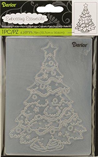 Darice 1218-45 Prägefolder - Schablone, Weihnachtsbaum, Plastik, transparent, 10.8 x 14.6 x 0.3 cm (Darice Schablone)