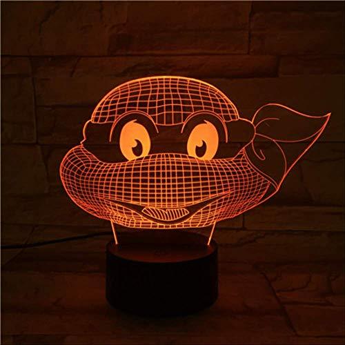 Die Ninja Schildkröte Ist Lila - Illusion Lampe, 3D Acryl Anime Ninja