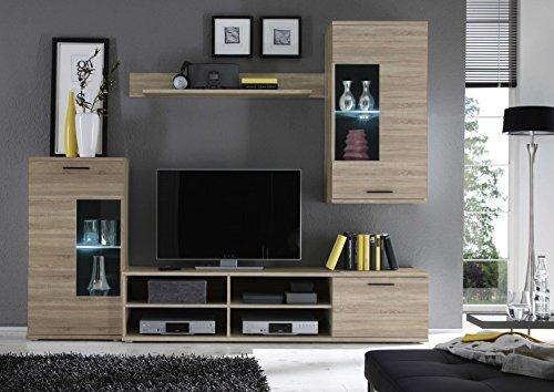 Avanti trendstore - kalli - parete da soggiorno con illuminazione led compresa, disponibile in 2 diverse colorazioni. dimensioni: lap 230x180x40 cm