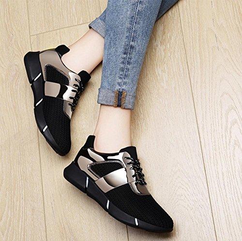 Schuhe flache Mundspiegel Frau flache Schuhe Aufzug Schuhe fallen lead color