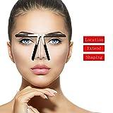 Augenbrauen-Lineal, mit Drei-Punkte-Positionierung, für Permanent Make-up