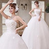 BAI Vestido de Novia de Corea del Estilo Cinturón de Corbata Vestido de Novia Vestido de