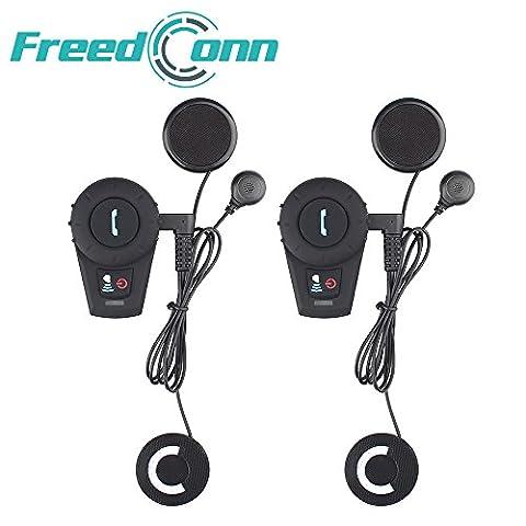 FreedConn FDCVB 500m Bluetooth-Freisprecheinrichtung für Motorradhelm Interphone Motorrad-Headsets für 2-3Fahrer Duplex-Bluetooth wetterfeste Kommunikation auch zum Reiten und Skifahren