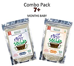 Rice Dhal & Wheat Dhal Porridge Mix Combo Pack - 100% Natural Homemade & Organic Baby Food (7 - 24 months)