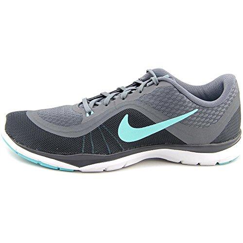 Nike Wmns Flex Trainer 6, Baskets Basses Femme, Taille Cool Grey/Hyper Turquoise/Dark Grey