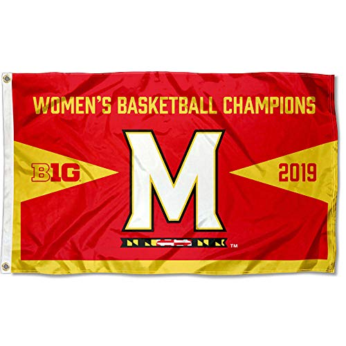 College Flags and Banners Co. Maryland Terrapins 2019 Damen Big Ten Basketball Champions Flagge Big Ten Flags