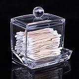 Leedstore Caja de Almacenamiento de bastoncillos, acrílico Transparente