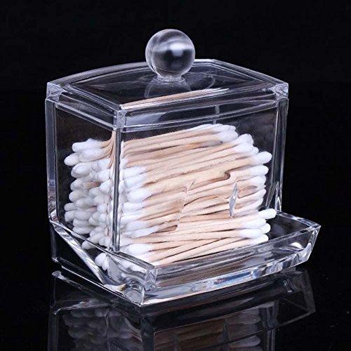 Caja de almacenamiento de bastoncillos, acrílico transparente