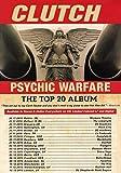 Embrayage psychédéliques Warfare 2016EU et UK Tour Photo Affiche Band pour Homme CD 001(A5-a4-a3), A3