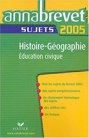 Histoire-Géographie-Education civique : Sujets
