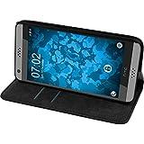 PhoneNatic Kunst-Lederhülle für HTC U11 Book-Case schwarz Tasche U11 Hülle + 2 Schutzfolien