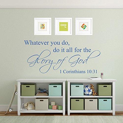 ür die Herrlichkeit Gottes Inspirierende Home Religiösen Gott Bibel Wand Zitat Aufkleber Dekoration Aufkleber Vinyl Decor Art Wandbild Art Deco 14