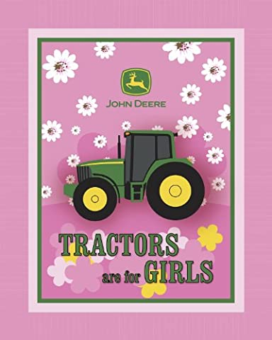John Deere Tractors are for Girls No Sew Fleece Throw