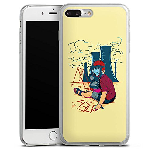 Apple iPhone 8 Plus Slim Case Silikon Hülle Schutzhülle Atomkraft Graffiti Umwelt Silikon Slim Case transparent