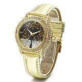 Time100 W50022L.02A, Orologio Donna al Quarzo con Cristallo Quadrante, Display Analogico e Cinturino in Pelle, Colore Oro