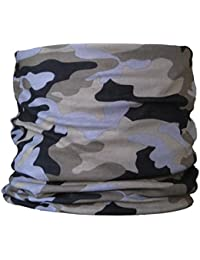 Multifunctional Headwear Camouflage, Sage Green Grey & Black