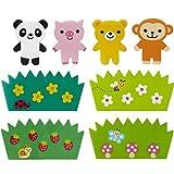 Kawaii Affe Panda Baran Divider Sheets für Bento Box Lunch Box