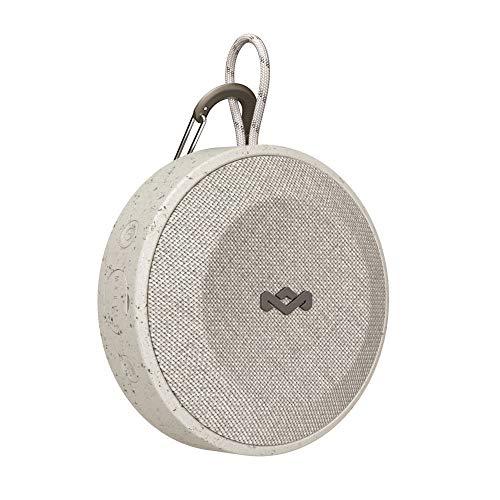 House of Marley No Bounds Outdoor Bluetooth Lautsprecher - wasserdicht, staubdicht & sturzsicher IP67, schwimmfähig, 10 Std Akku, Karabiner, Schnellladung, Aux, Dual Pairing, Mikrofon - Grey