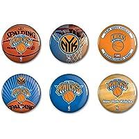 New York Knicks Offizielle NBA Button, Anstecker, Pins als 6er Set