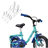 Gecko Aufkleber Fahrrad mit Fußspuren mehrteilige Set zum Verkleben Bike Sticker | S4B0071