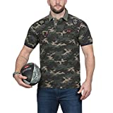 Ruckfield - Polo Camouflage Rugby - Beige, Kaki, L...