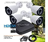 Dahua–Überwachungskamera System Video Überwachungsset 4Kameras HD 720P Außen–kit-dvr339–4x 572–Festplatte von 1to
