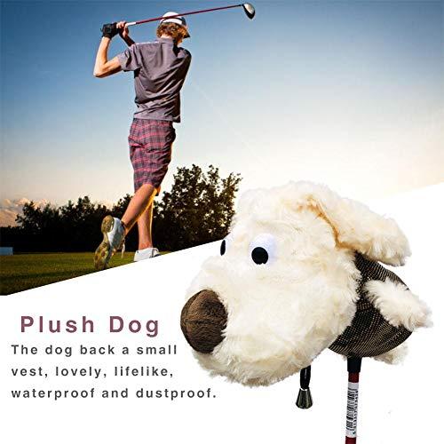 BeneU Golfschlägerhauben Woods Golfschlägerhauben Driver Fairway Hybrid, Golfschlägerhaube Plüschhundform Niedlicher Cartoon Golfschlägerhauben Long Neck Fashion Golfschlägerschutzhauben -