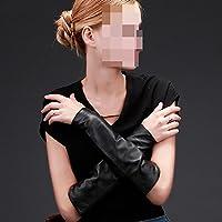 Guantes de rdjm Otoño y el invierno mujer larga sección delgada piel puños Warm Mangas Brazo mangas, color #1, tamaño Medium