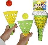 Wurfspiel Fangbecherspiel, 2er Set, Kunststoff, 10,5x18,5cm, m.2 Bällen