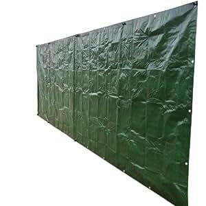 Noor 042185SISCHGR Bâche brise-vue Vert 140 g/m² 1,80 x 5 m