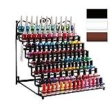 Dazone® Mounted 8 Tier Black Metal Shelf Nail Polish Wall Rack Essential Oils Perfume Table Top Organizer Display Stand