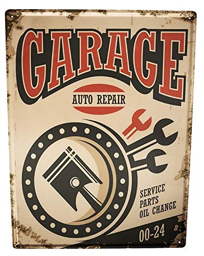Harvesthouse Garage Auto Repair Gas Stations Vintage Metal Tin Sign, Wall Decor Plaque Poster,12x16 Inches - Gas Station Sign Display