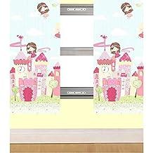 Fairy inc Disney Fairies - Cortinas (167,6 x 182 cm, para habitación infantil), diseño de cuento de hadas