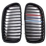 Grille - SODIAL(R)Grille calandre M Sports Grill noir brillant pour BMW F10 F11 F18 Serie 5 voitures