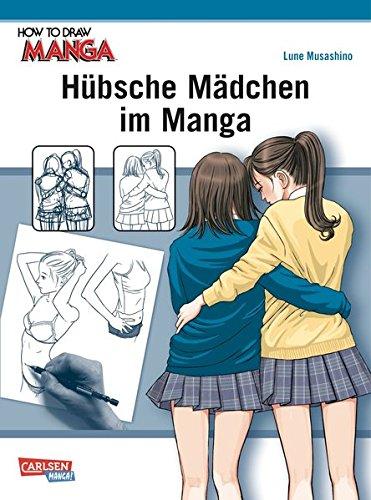 Hübsche Mädchen im Manga