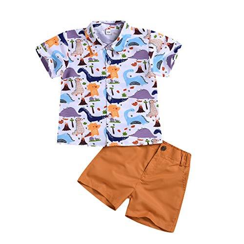 Cuteelf Baby 2 Stück Bekleidungsset Herbst, Neugeborenes Baby Jungen Mädchen Elefanten Gestreift Print T-Shirt Tops Set - Für Erwachsener Elefant Kostüm