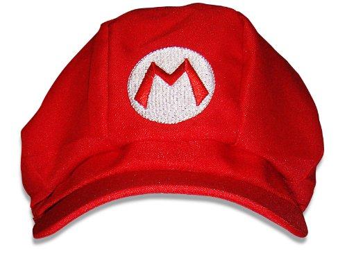 Super Mario Mütze rot, Mario Kostüm, Einheitsgröße, Unisex Mütze für (Bros Super Mario Kostüme Bowser)