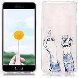 Étui en Silicone pour Samsung Galaxy A5 2016 SM-A510F, Silingsan Silicone Case Coque Transparent TPU Housse Design Unique Étui Souple Flexible Case Résistant Aux Rayures Étui de Protection Complet Étui à Absorption de Choc - Doigt