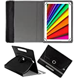 Fastway Rotating Leather Flip Case For I Kall N10 16 GB 10.1 With Wi-Fi+4G Tablet Cover Stand Black