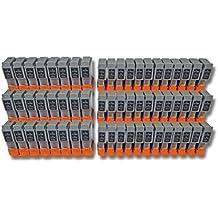 vhbw 60x Cartuchos para impresora cartuchos de tinta set para Canon Bubble Jet S200, S200x, S300, s330 Photo por BCI-24BK, BCI-24C.