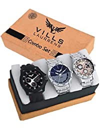 Vills Laurrens Analogue Multicolor Dial Combo Of 3 Men's & Boy's Watch - Vl-1111-1112-1113